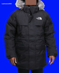 100% Authentic The North Face Mens MCMURDO Parka Down Jacket Black W ...