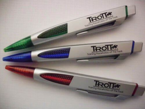 100 CUSTOM PROMOTIONAL PERSONALIZED FLAT UNIQUE PRINTED PENS RED BLUE GREEN in Specialty Services, Printing & Personalization, Other | eBay