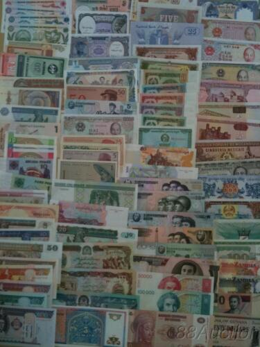 100 Different world paper money collection, UNC genuine banknotes. High Quality! in Coins & Paper Money, Paper Money: World, Collections, Lots | eBay