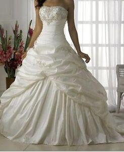100-Lager-Weisses-Hochzeitskleid-Braut-Brautkleid-Groesse-34-36-38-40-42-44