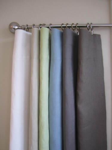 100% Linen Window Curtain Panels, NEW, 2 Panels Per Set in Home & Garden, Window Treatments & Hardware, Curtains, Drapes & Valances | eBay