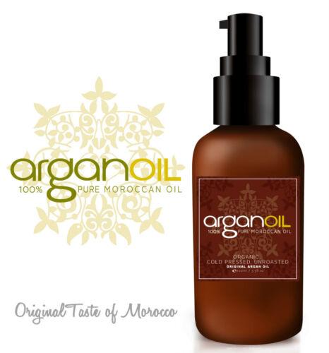 100% PURE Organic Moroccan ARGAN OIL for Skin, Body & Hair 100ml 50ml 10ml 5ml