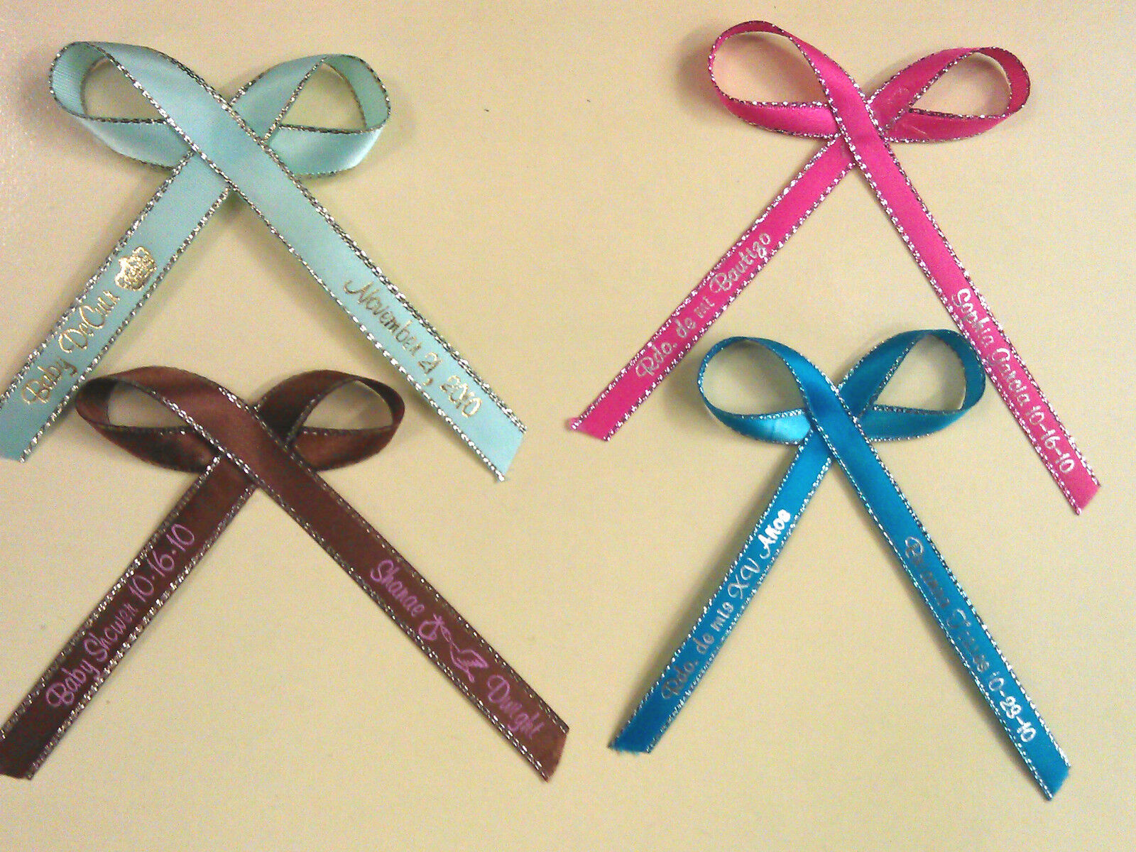ribbons 1 4 quot or 3 8 quot wedding birthday party baby shower