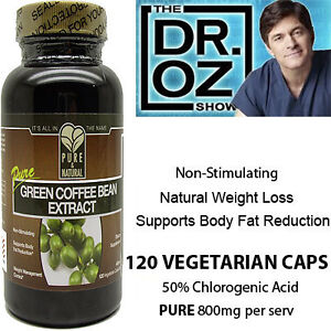 Details about 100% Pure Green Coffee Bean Extract 800mg/serv,120 cps ...