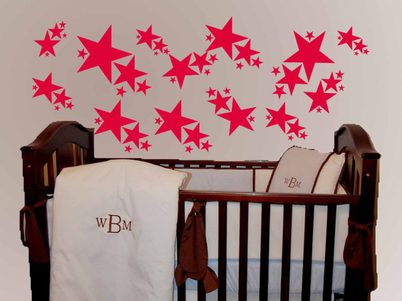 100 Stars Kids Room Decor Vinyl Wall Art Decal Sticker