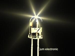 100-Stueck-Leuchtdioden-Led-5mm-WARMWEIss-15000mcd-hoher-Fertigungsstandard