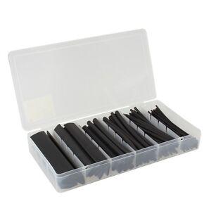 100-tlg-Schrumpfschlauch-Sortiment-schwarz-Schrumpfschlaeuche-in-Box-Set