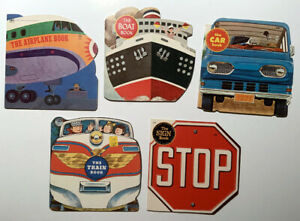 100% to St Jude The Train Book Car Boat Airplane Sign Golden Shape Book Lot