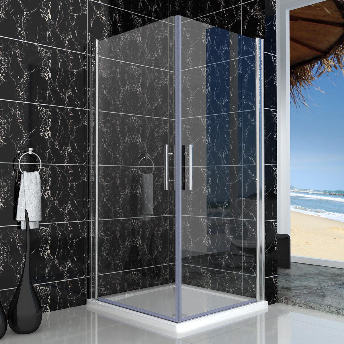duschkabine schwingt r nano glas dusche duschabtrennung eckeinstieg 80x80x195cm ebay. Black Bedroom Furniture Sets. Home Design Ideas
