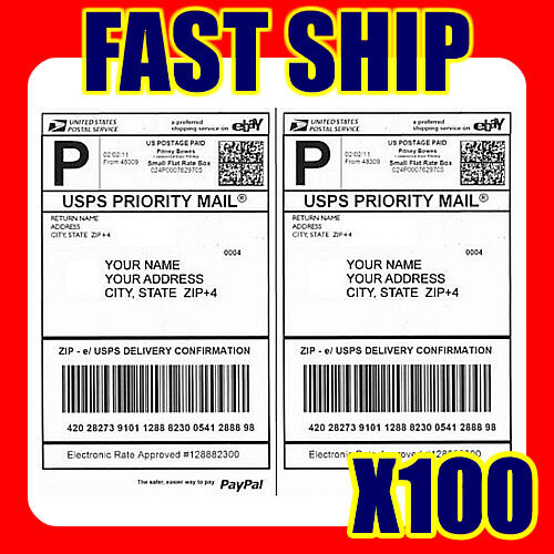 Mailing Shipping Label for USPS Click N Ship UPS Fedex DHL