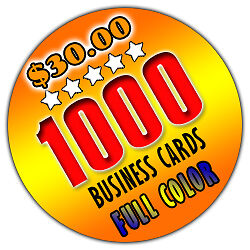1000 Business Cards - Full Color - Glossy - Double Sided - FREE SHIPPING in Specialty Services, Printing & Personalization, Business Cards | eBay