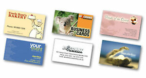 1000 Full Color 2 Side REAL PRINTING 14pt Business Cards Free Design Software!! in Specialty Services, Printing & Personalization, Other | eBay