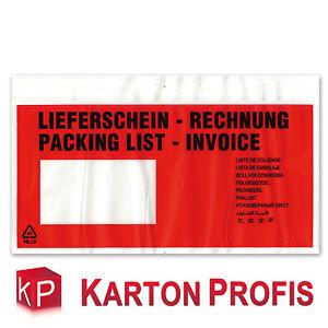 1000-Lieferscheintaschen-Din-Lang-rot-Begleitpapiertaschen-Begleitpapierhuellen