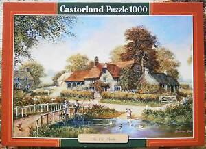 1000 Teile Puzzle, Castorland, The old Bridge, Landhaus am Teich, Idylle - Deutschland - 1000 Teile Puzzle, Castorland, The old Bridge, Landhaus am Teich, Idylle - Deutschland