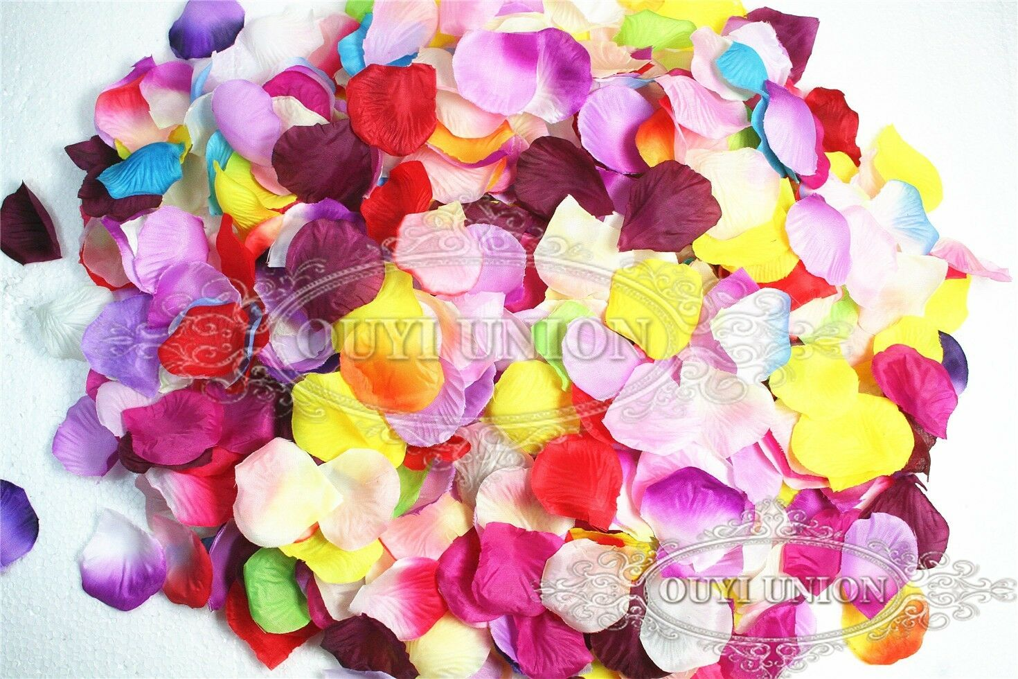 1000pcs various silk rose petals confetti table flower for Multi colored rose petals