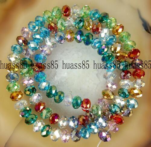 100PCS 6mm Multicolor AB Swarovski Crystal Gem Loose Beads A34 in Crafts, Beads & Jewelry Making, Beads, Pearls & Charms | eBay