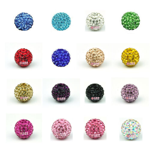 100pc 8mm 10mm 12mm Disco Ball Pave CZ Crystal beads fit for Shamballa Bracelet in Crafts, Beads & Jewelry Making, Beads, Pearls & Charms | eBay