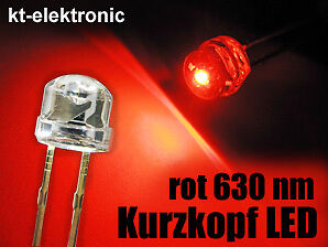 100x-LED-5mm-straw-hat-rot-Kurzkopf-Flachkopf-110