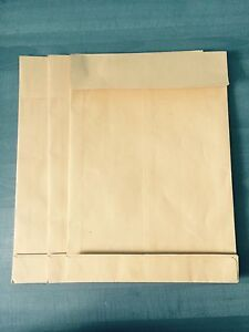 100x-RW-Faltentaschen-DIN-A4-Versandbeutel-Versandtaschen-Versandumschlaege