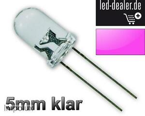 100x-UV-LEDs-5mm-Schwarzlicht-violett-lila-luce-nera-zwart-licht-Modding-LED-R