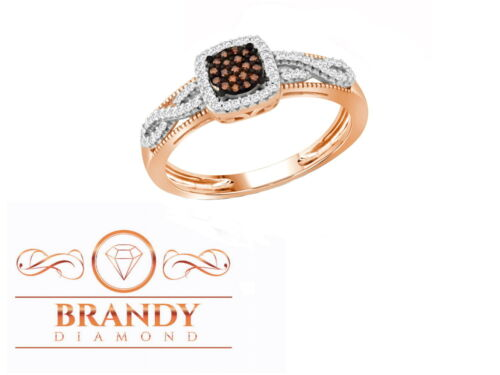 Brandy Diamond® Chocolate Brown 10K Rose Gold Lovely Eternity Ring .27Ct
