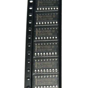 10Stk-SOP-16-HEF4511-CD4511BM-BCD-zu7-Segment-Latch-Decoder-Treiber-IC-Neu