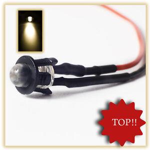 10Stueck-5mm-LED-fertig-Verkabelt-Warm-Weiss-LEDs-12V-anschlussfertig