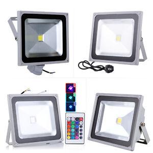 10W-20W-30W-50W-100W-LED-Flutlicht-Fluter-RGB-Strahler-Stecker-Bewegungsmelder