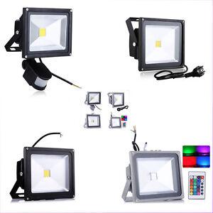 10W-20W-30W-50W-100W-LED-Flutlicht-Fluter-RGB-Strahler-Stecker-Warmweiss-Weiss
