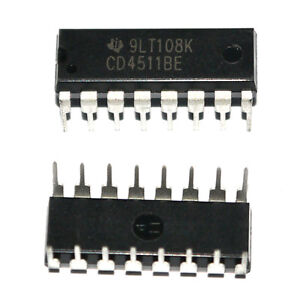10X-HCF4511BE-DIP-16-HEF4511-CD4511-BCD-to-7-Segment-Latch-Decoder-Treiber-IC