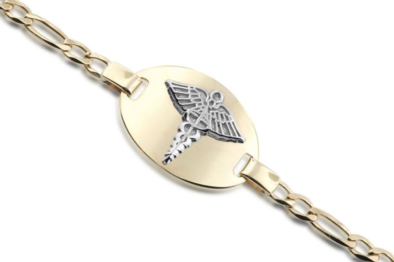 gold medical alert bracelet | eBay - Electronics, Cars, Fashion