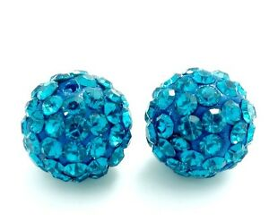 10pcs-Aquamarine-Shamballa-Disco-Ball-Crystal-Rhinestone-beads-10mm