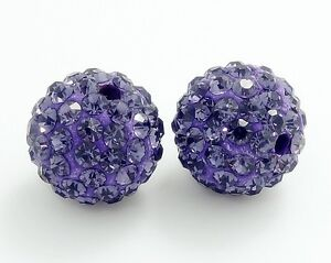 10pcs-Lavender-Shamballa-Disco-Ball-Crystal-Rhinestone-beads-10mm