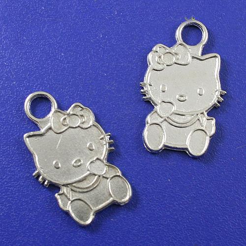 10pcs Tibetan silver hello KITI CAT charms H0171