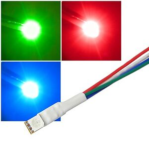10x-5050-SMD-Leds-mit-20cm-Kabel-12-Volt-DC-Led-verkabelt-12-V-cable-wired