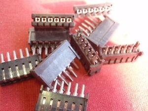 10x-BUCHSENLEISTE-z-EINLOTEN-6-pol-2-54mm-STANDARD-RASTER-MODELLBAU-PC-24550