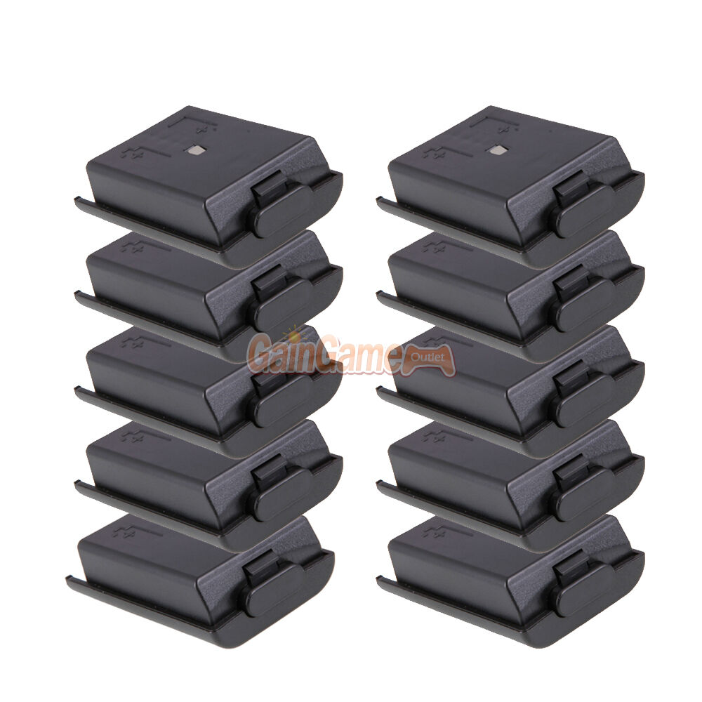 10x Battery Pack Cover Case Shell for Xbox 360 Xbox360 Game Controller Black