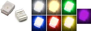 10x-Power-SMD-LED-PLCC-2-Weiss-Warmweiss-Gruen-Blau-Rot-Gelb-Ultraviolet-UV