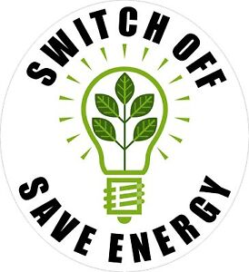 Free energy saving stickers for light switches