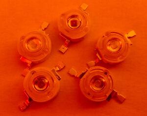 10x-rot-1-Watt-High-Power-LED-40-50-lm