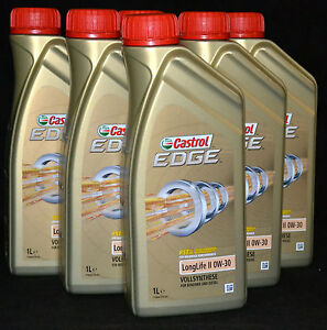 10x1 liter castrol edge fst 0w 30 longlife 2 motor l 0w30 vw 503 00 506 01 ebay. Black Bedroom Furniture Sets. Home Design Ideas