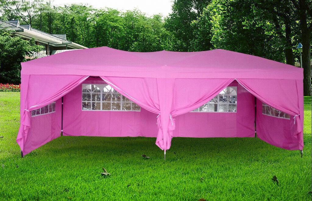 10x20 Ft Ez Pop Up 4 Walls Canopy Party Tent Gazebo Heavy