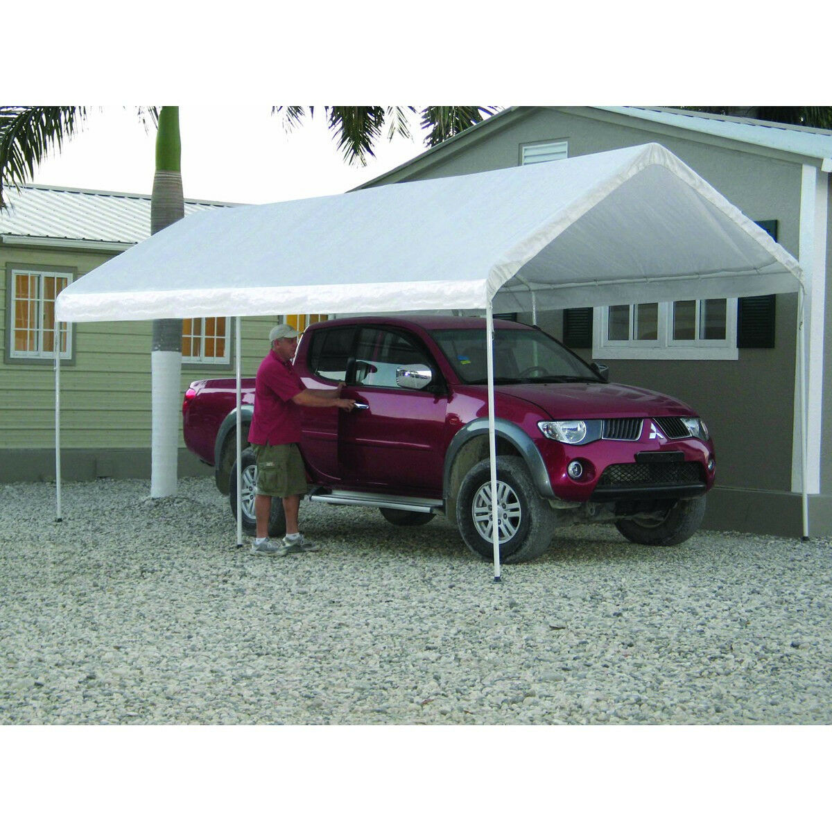 Metal Car Shelter 10x20 : Shed plans tent guide