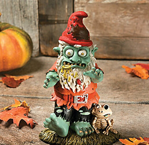 "11 5"" Zombie Garden Gnome Halloween Prop Yard Lawn Decor Scary Outdoor Spooky"