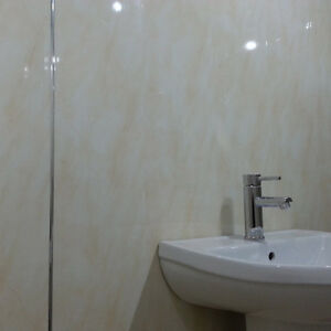 11 beige marble bathroom wall panels pvc plastic cladding for T g wall panelling in bathroom