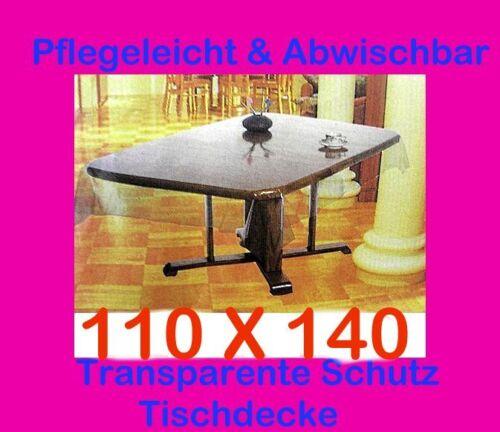 110x140cm tischdecke durchsichtig transparent schutzdecke tischtuch vinyl garten ebay. Black Bedroom Furniture Sets. Home Design Ideas