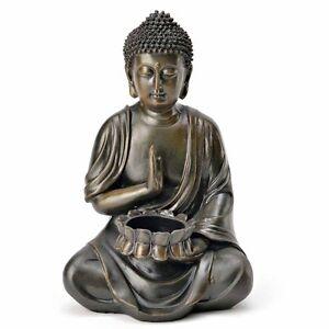 1181 deko buddha teelichthalter figur statue skulptur
