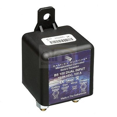 12 24 volt 100 amp voltage sensing split charge relay. Black Bedroom Furniture Sets. Home Design Ideas