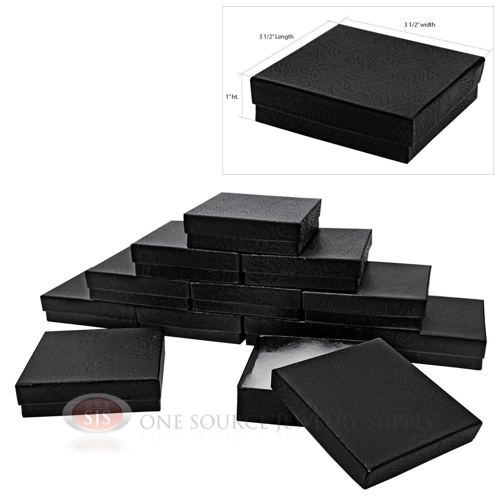 12 black swirl cotton filled jewelry gift boxes bracelet
