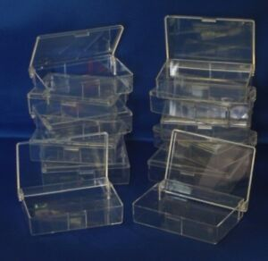 12-CLEAR-PLASTIC-STORAGE-BOXES-CRAFT-SEWING-BEADS-JEWELLERY-DIY-FISHING